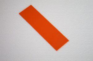 G-10 Orange 400x140x0.5mm.