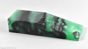 Acrylic - Green / black 120x40x25