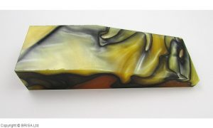 Acrylic amber / black - 125x40x25mm.