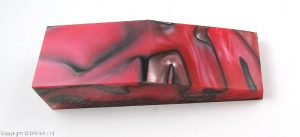 Acrylic black in red 120x40x25mm.
