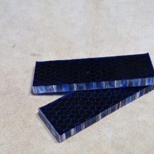 Honeycomb - blue coffee 125x38x10 mm.
