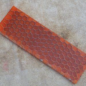 Honeycomb - red orange 125x38x10 mm.