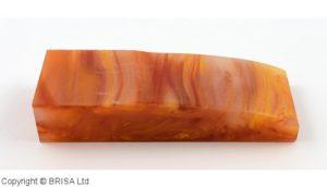Acrylic Amber 120x40x25mm.