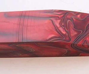 Acrylic Red / black 120x40x25mm.