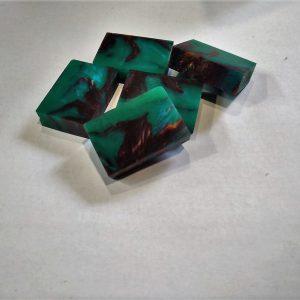 Green patina - small - 38x25x10 mm.